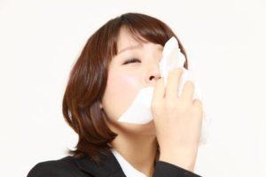 インフルエンザによる鼻水症状